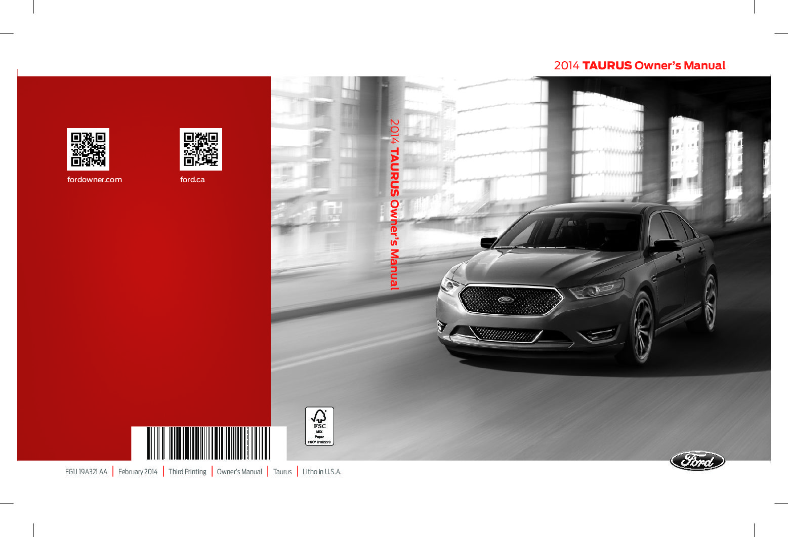 download owners manual fpr 2014 ford taurus