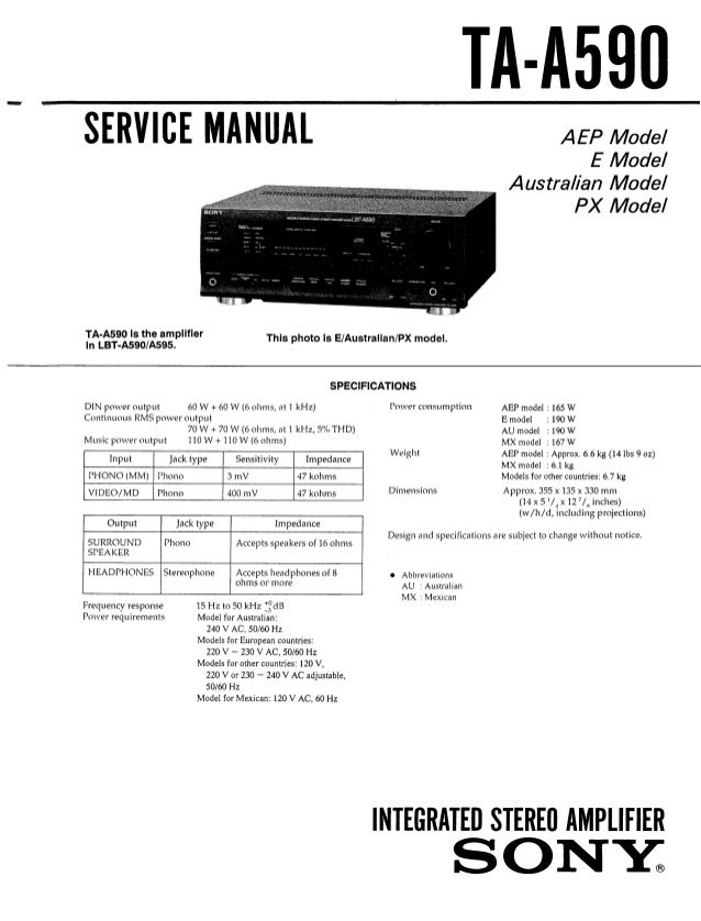 sony model number kp61379 manual